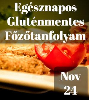 Egésznapos gluténmentes főzőtanfolyam – 2018.11.24.